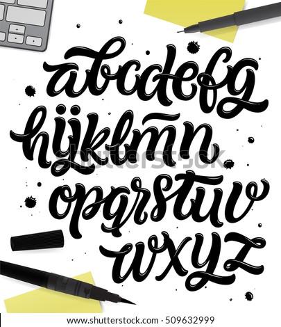 Brush Style Modern Calligraphy Typeface