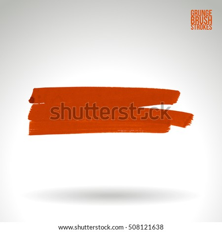 Brushstroke and texture. Vector design.
