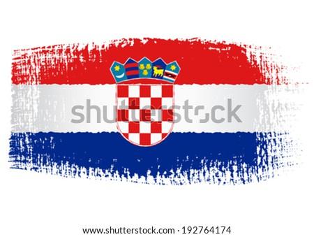 brushstroke flag Croatia - stock vector