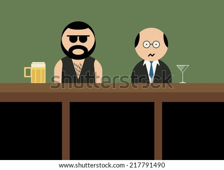 Brutal man in bar