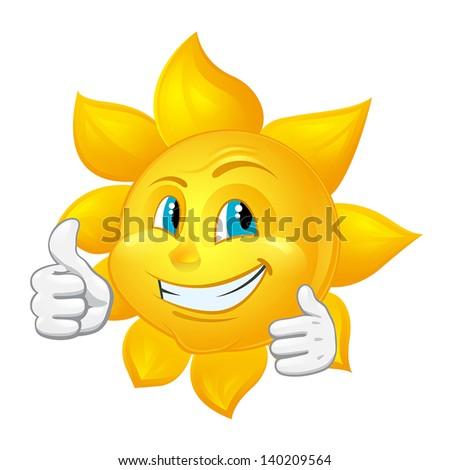 buautiful sun likes - stock vector