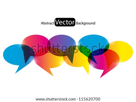 Bubble background for your design - stock vector