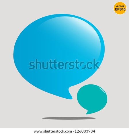 Bubble balloons quote. Vector Background - stock vector
