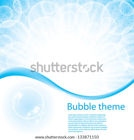 Bubble blue theme abstract background