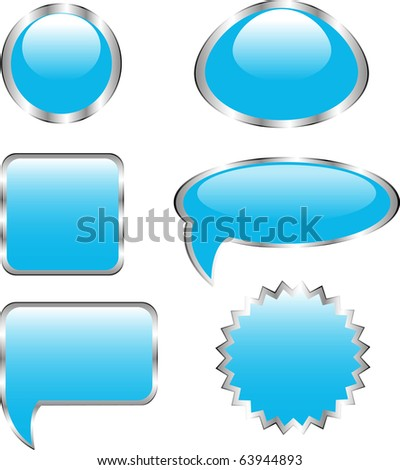bubble buttons - stock vector