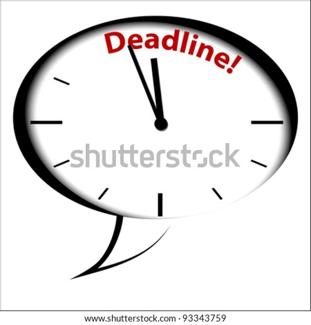 "Bubble Clock ""DEADLINE"", vector"