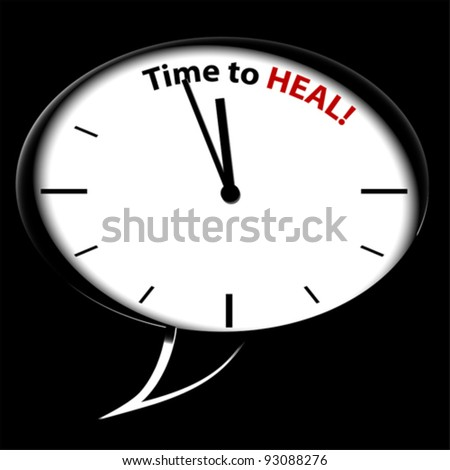 "Bubble Clock ""Time to HEAL"", vector"