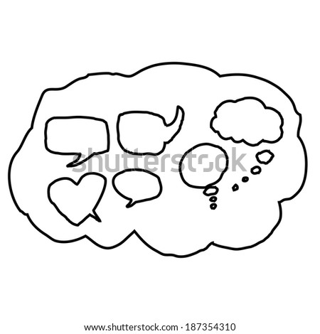 bubble collection sketch drawing vector. - stock vector