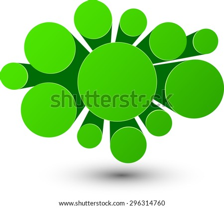 Bubble green infographics perspective design. Vector illustration.