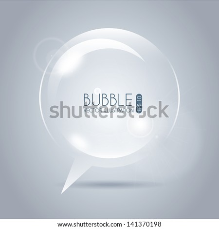 bubble icon circle over gray background vector illustration - stock vector