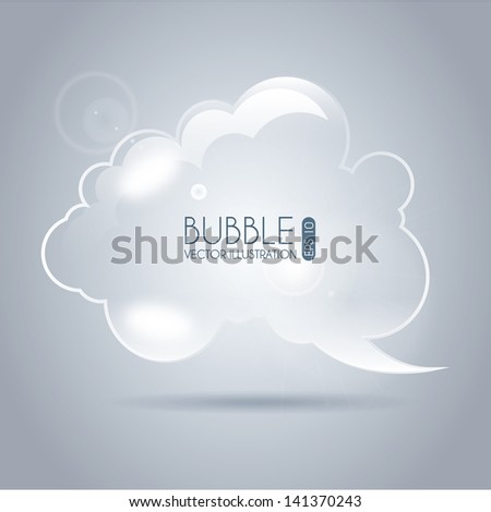 bubble icon cloud over gray background vector illustration