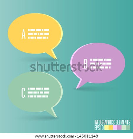Bubble Infographic Template - stock vector