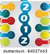Bubble label calendar design for year 2012 - stock vector
