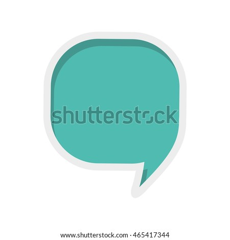 bubble message communication chat icon. Isolated and flat illustration. Vector graphic