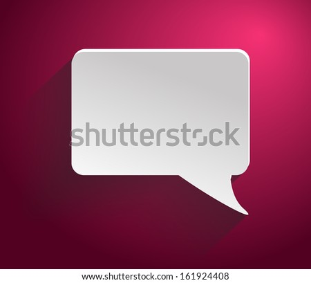 Bubble on red background - stock vector
