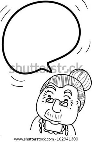 bubble speech from grand mother - stock vector