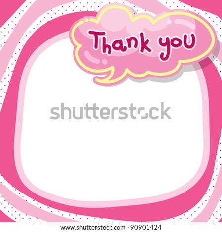 bubble speech - thank you - stock vector