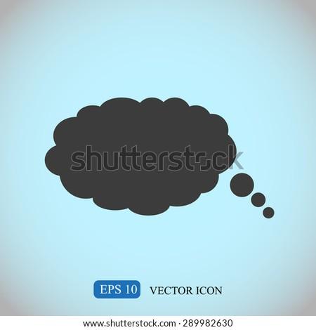 Bubble speech vector icon  - stock vector