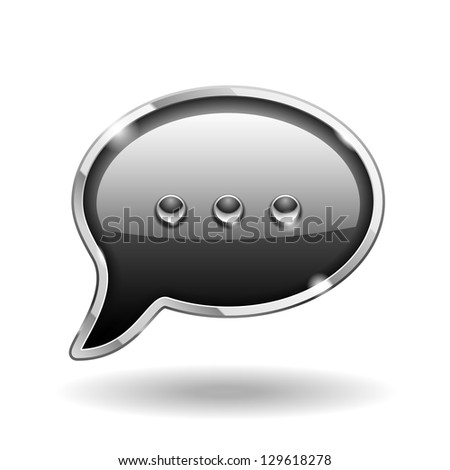 Bubble Talk Icon isolated on white. Vector Sign - stock vector