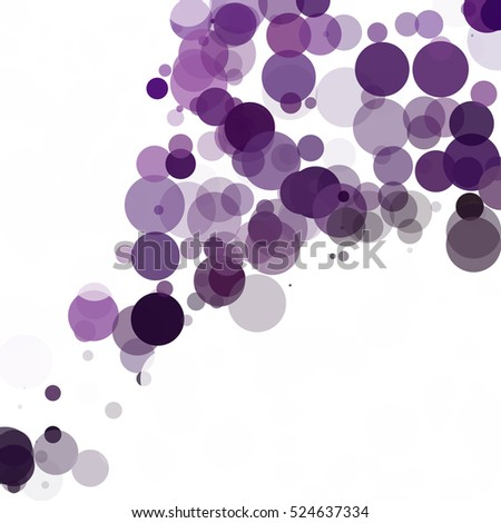 Bubbles Circle Dots Unique Purple Bright Vector Background