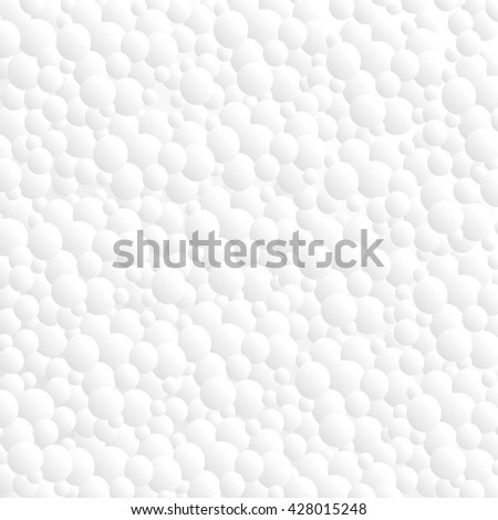 bubbles drop shadows on white background - stock vector