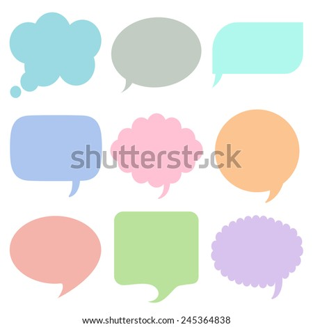 Bubbles for speech icons set great for any use. Vector EPS10. - stock vector