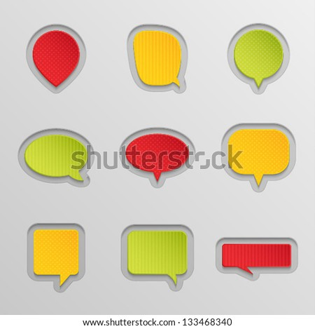 Bubbles for speech set. Vector illustration.