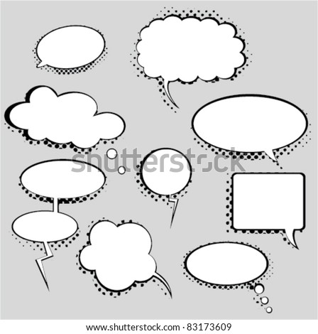 bubbles set - stock vector