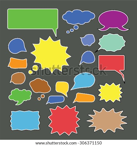 bubbles, speech, chat icons - stock vector