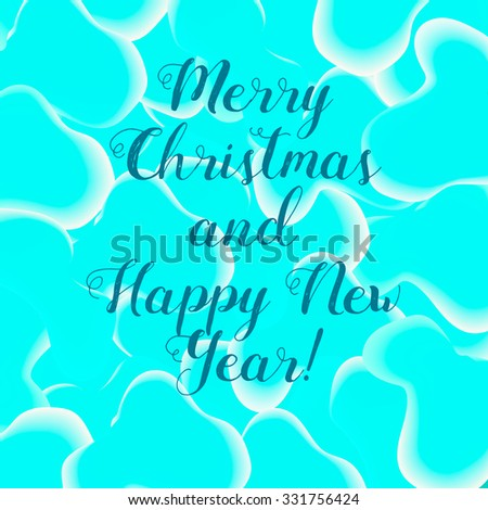 Bubbles styled bright colored new year greeting card. Fully editable vector illustration. Perfect for new year and christmas eve greetings. - stock vector