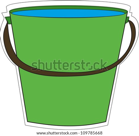 bucket - stock vector