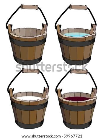 bucket - stock vector