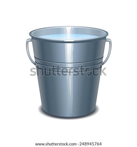 Bucket of water - stock vector