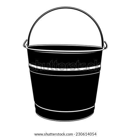 Paint Bucket Silhouette Stock Vector Bucket Silhouette