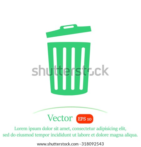 Bucket vector icon.