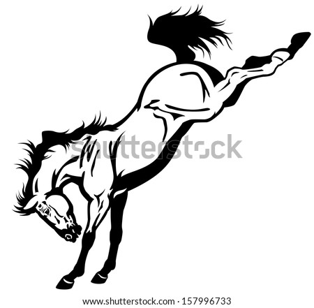 Bucking Horse Stock Images Royalty-Free Images U0026 Vectors | Shutterstock