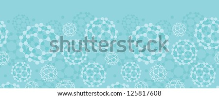 Buckyballs horizontal seamless pattern background border - stock vector