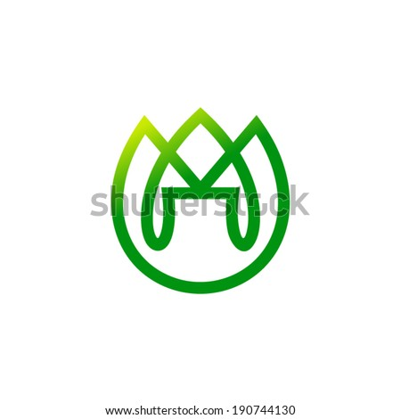 Bud tulip sign Branding Identity Corporate vector logo design template Isolated on a white background - stock vector