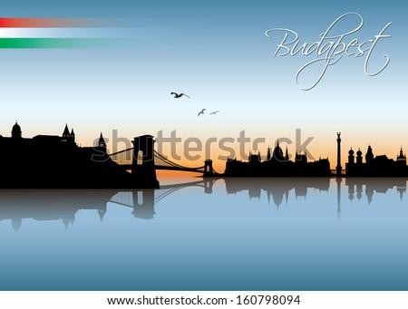 Budapest skyline - vector illustration - stock vector