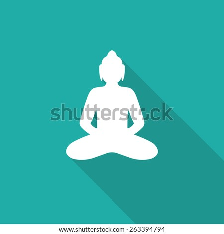 Buddha flat icon. vector illustration - stock vector