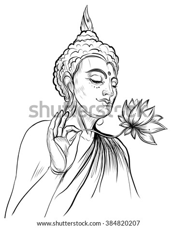 Buddha vector stock images royalty free images vectors for Buddha coloring pages