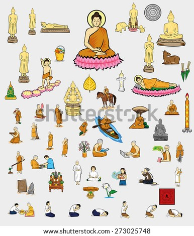 Buddhism of Thailand - stock vector