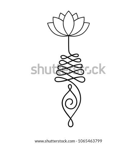 Buddhist symbol life path lotus flower stock vector 2018 buddhist symbol for life path with lotus flower mightylinksfo