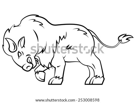 Buffalo - stock vector