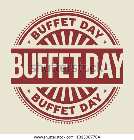 Buffet Day rubber stamp, vector Illustration