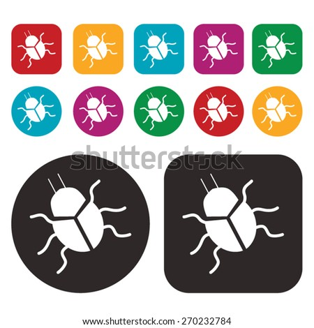 Bug icon. Computer Bug icon. Vector - stock vector