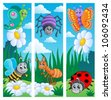 Bugs banners collection 2 - vector illustration. - stock