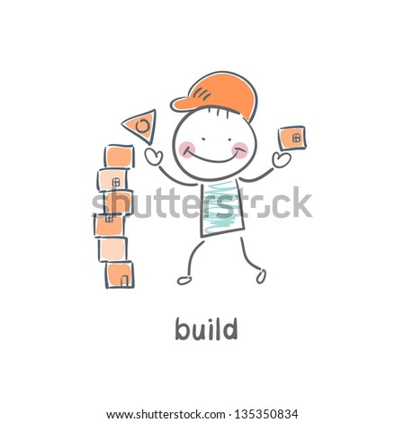 builder - stock vector