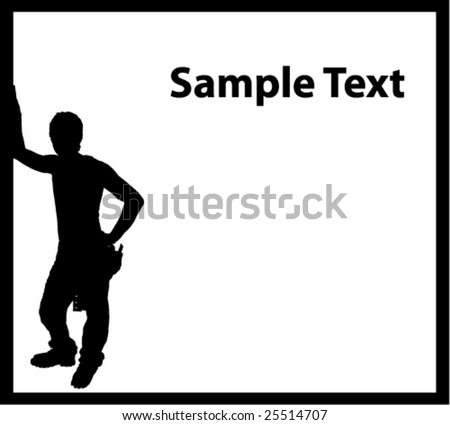 Builder in the box - stock vector