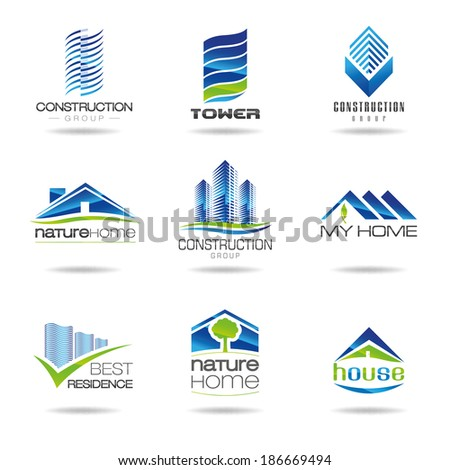 Building and construction icon set - stock vector